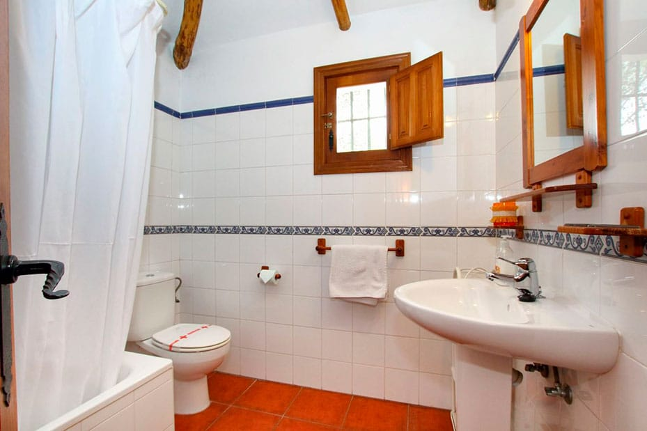 Baños de casitas para 5 personas