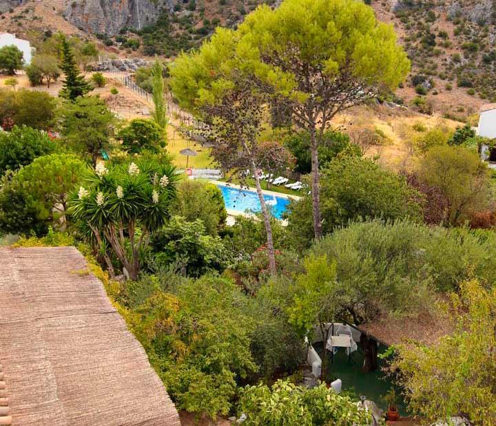 Vistas del jardín botánico desde casa Ronda