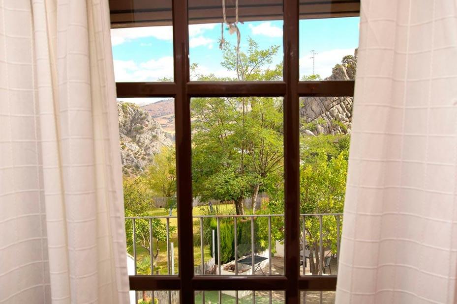 Vistas al jardín botánico desde la Casita Gaucín